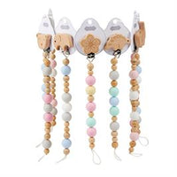 Wood & Silicone Bead Pacy Clip