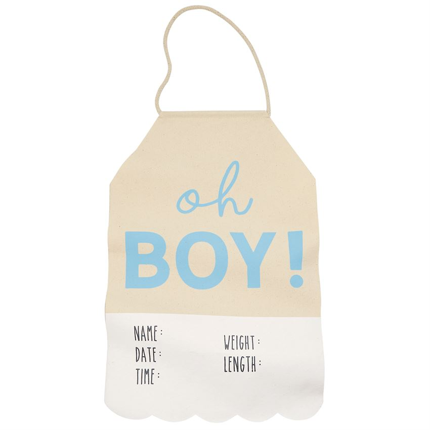 Canvas Bringing Baby Home Door Hanger