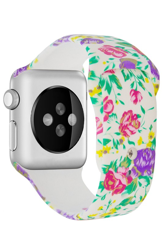 Flower Pattern Smart Watch Band