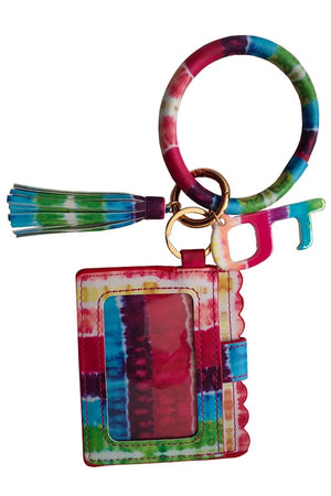 Bangle Bracelet & Key Chain With Card Holder