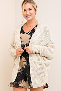 Open Cardigan w/Dolman Sleeve - Debs Boutique  LLC