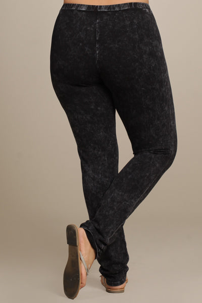 Plus Mineral Wash Leggings