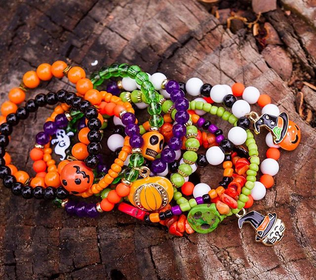 Lime, Orange and Coordinating Beaded Bracelets