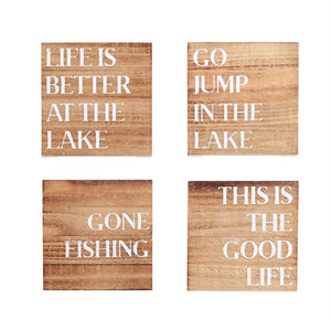 Lake Wood Plank Coasters