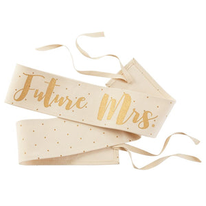 Canvas Wedding Sash