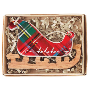 Tartan Ceramic Ornaments