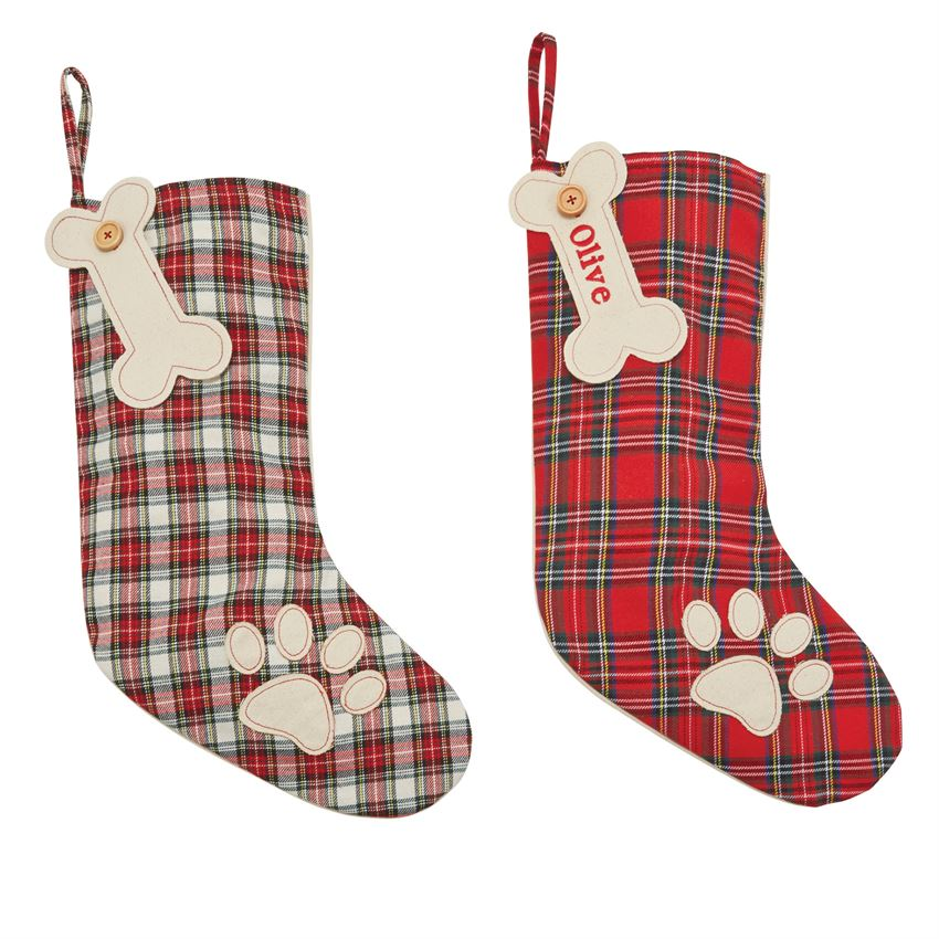 Monogram Tartan Dog Stocking