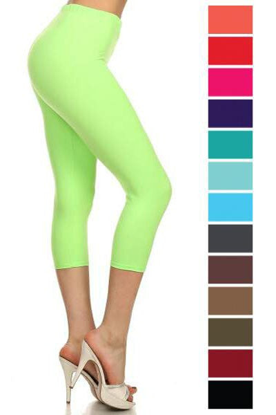 Solid Stretch Capri Legging - Debs Boutique  LLC