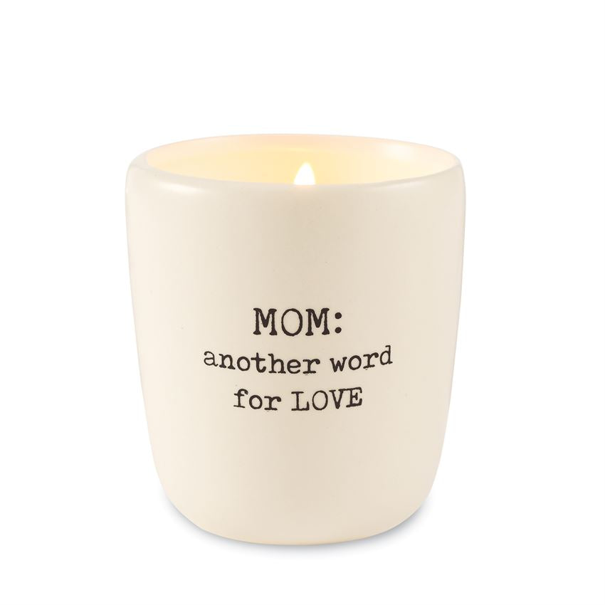 Mom Vanilla Scented Candle