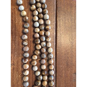 "Faith, Hope, Love 8mm 60"" Beaded Necklace - Debs Boutique  LLC"