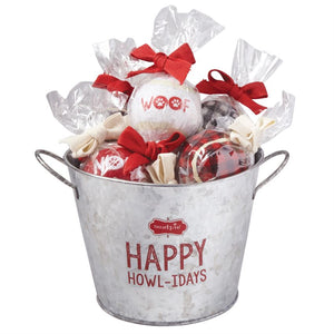Happy Howl-Idays Tennis Ball Bucket
