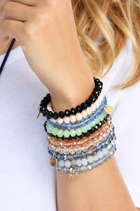 Beautiful Colored 8mm Crystal Bead Stretchable Bracelet