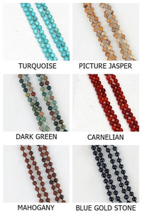 Natural Stone Beaded Long Necklace