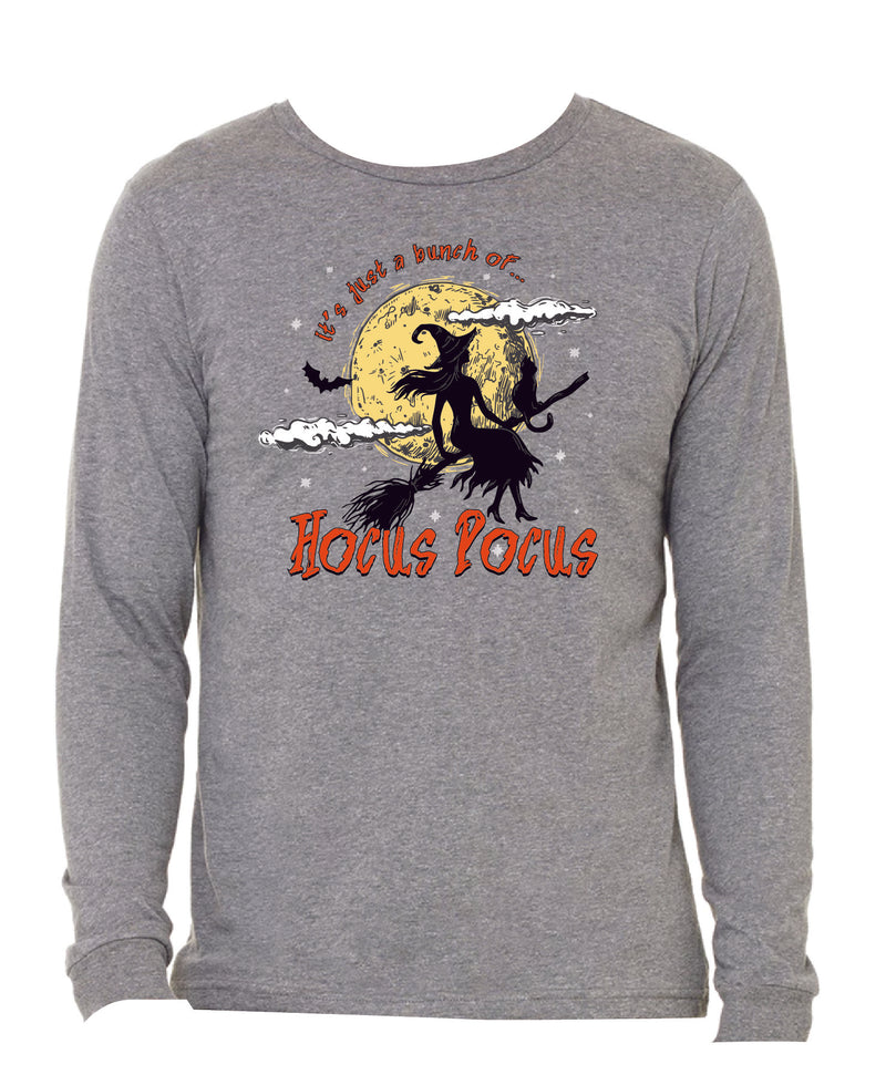 It's Just A Bunch Of Hocus Pocus Steel Grey Long Sleeve T-Shirt