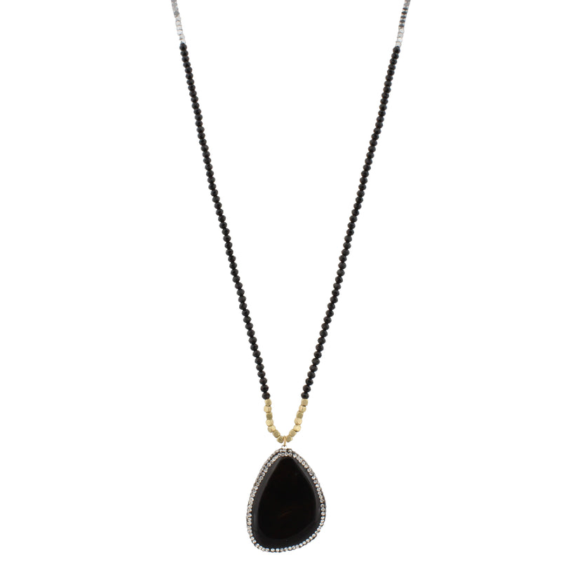 "32"" Necklace with  Druzy Pendant"