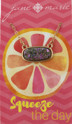 "16"" Rounded Druzy Necklace"