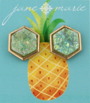 Ab  Rounded Druzy Stud