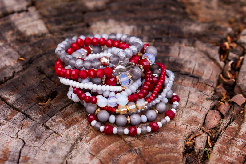 Stretch Bracelets with Coordinating Beads by Jane Marie