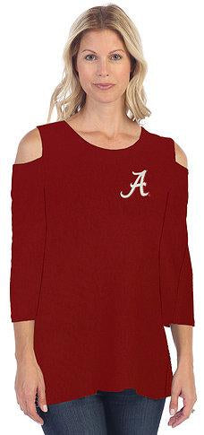 University of Alabama Cold Shoulder Top