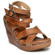 Juliana Leather Wedge with Crisscrossing Straps - Debs Boutique  LLC