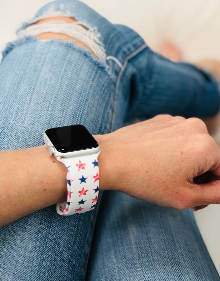 Star Print Silicone Watch Band