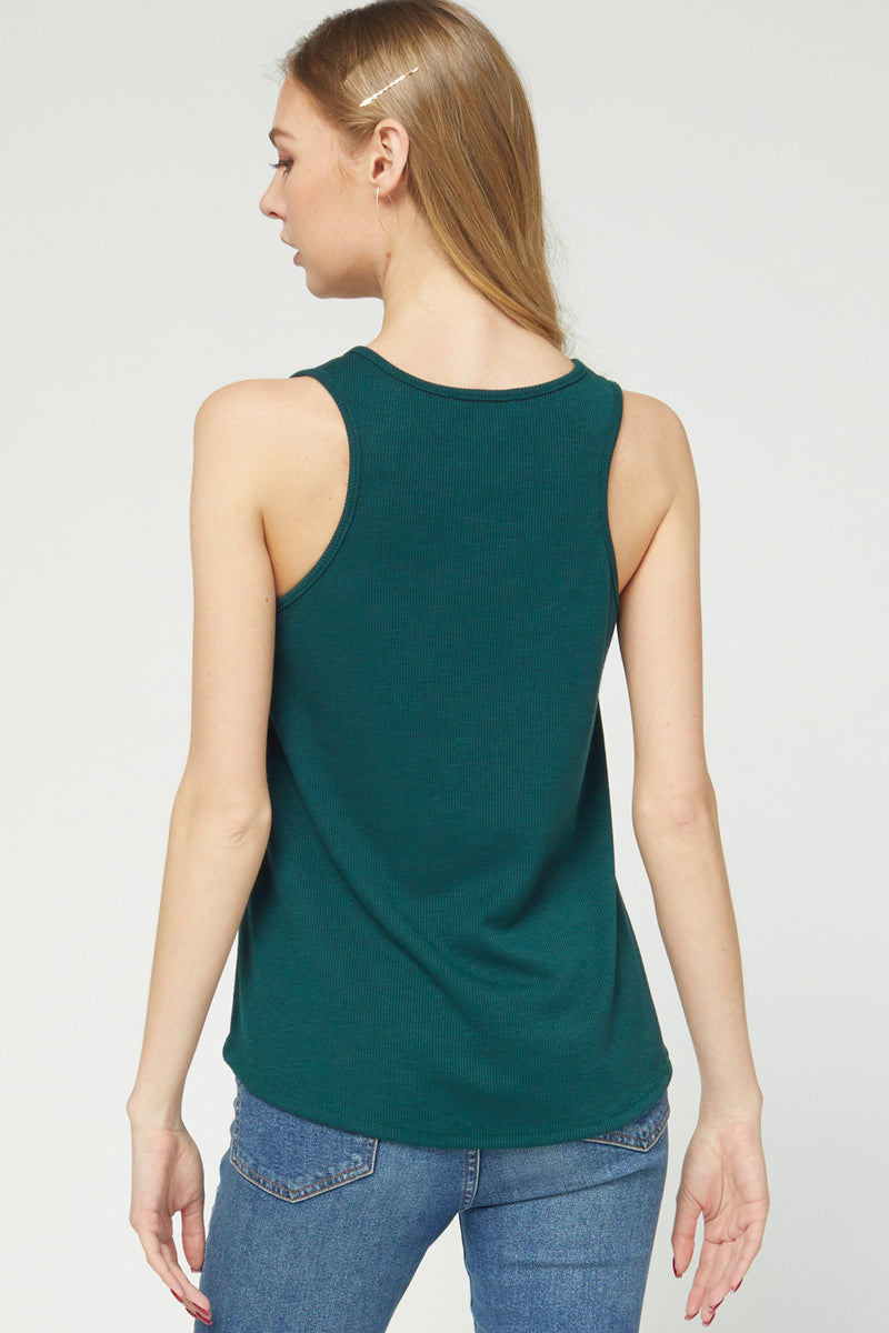 Sleeveless Scoop Neck Top