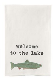 Lake Icon Dish Towels