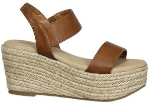 Espadrille Inspired Wedge Sandal