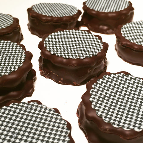 Chocolate Marshmallow Pie- Houndstooth