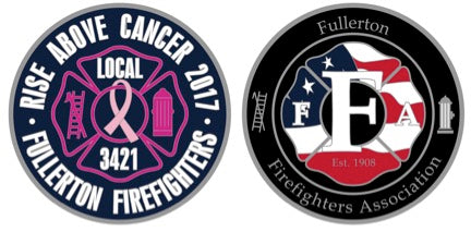 Rise Above Cancer Challenge Coin