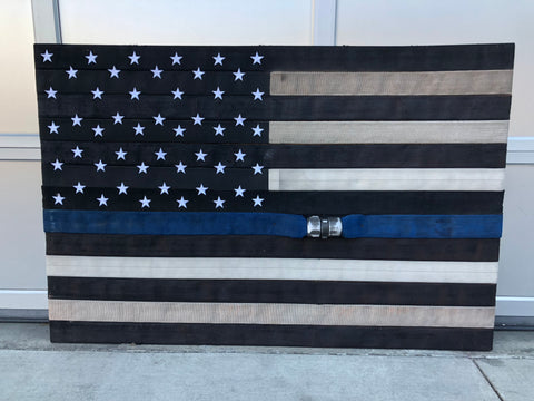 Authentic Blue Line Hose Flag