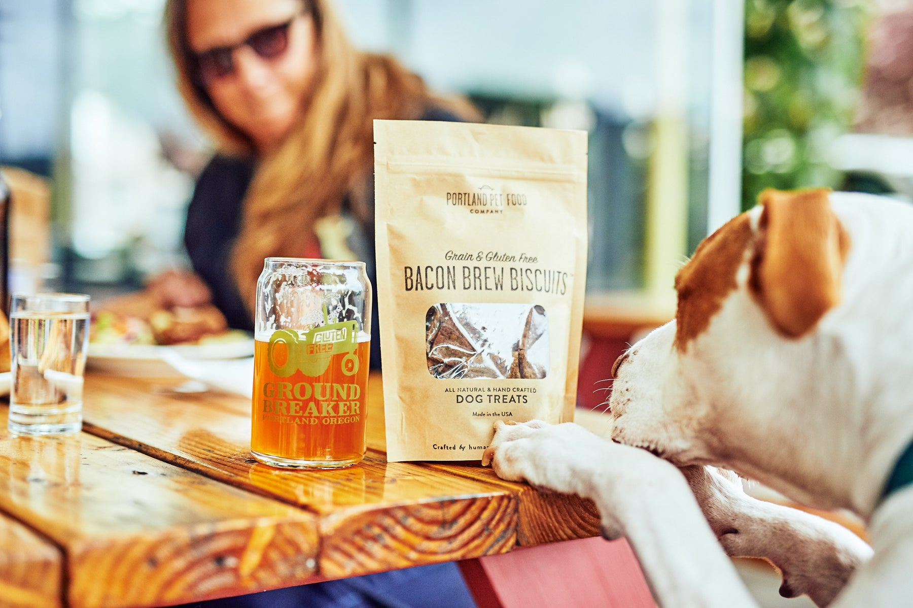 portland pet food company brew biscuits ground breaker brewing pit bull