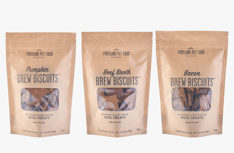 brew biscuits subscription portland pet food company