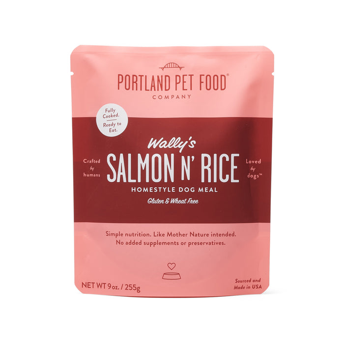 Wally's Salmon N' Rice Meal Pouch