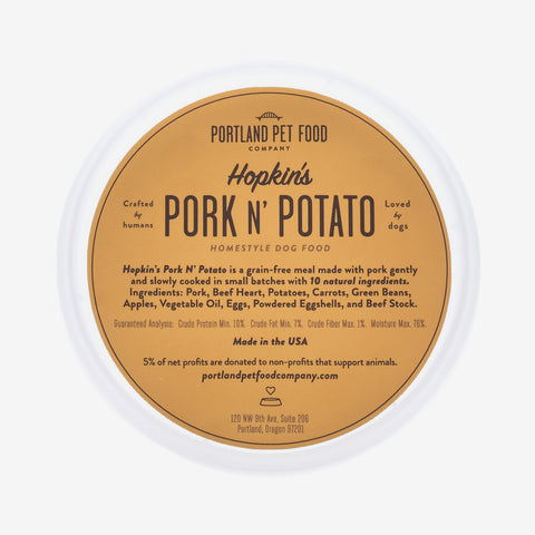 Hopkin's Pork N' Potato - Grain Free Natural Dog Food Meal