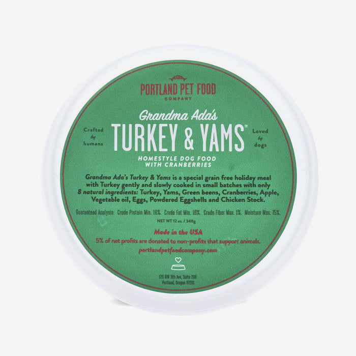 Grandma Ada's Turkey & Yams - Special Grain & Gluten-Free Holiday Natural Meal 6 Pack - Available October-January