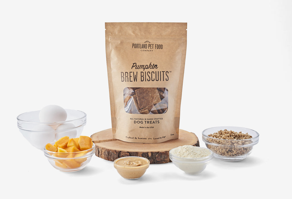 portland pet food company Brew Biscuits with Pumpkin Dog Treat ingredients