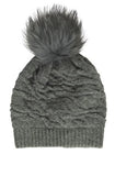 Wool and Racoon fur Beanie