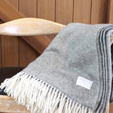 Mt Somers Blanket - Basket weave Charcoal