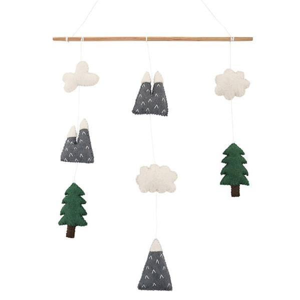 Felt Wallhanging - Mountains and Clouds