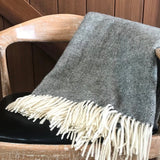 Mt Somers Blanket - Charcoal Herringbone