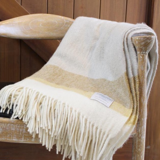Mt Somers Blanket- Yellow Stripe