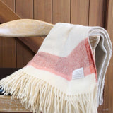 Mt Somers Blanket- Red Stripe
