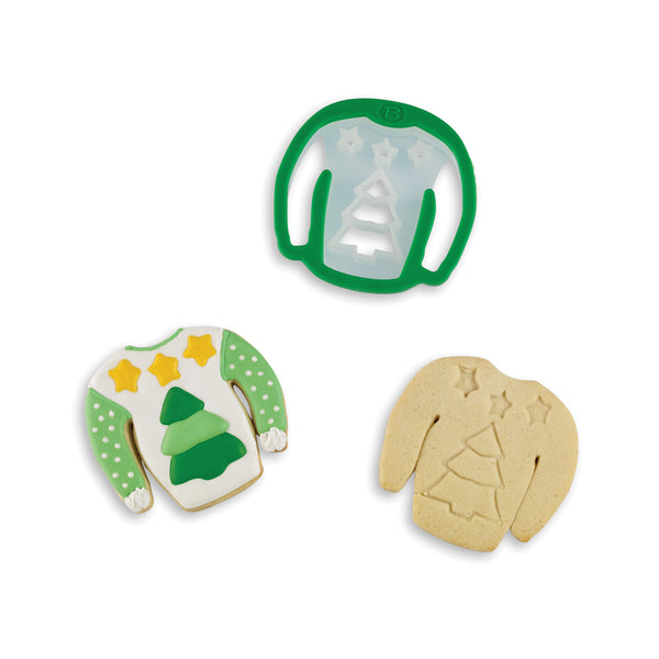 Ugly Christmas Sweater Cookie Cutter: Tree