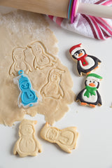 Christmas Penguin 3-in-1 Flip & Stamp Cookie Cutter