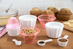 9-in-1 Pink Nesting Measuring Cup and Spoon Set