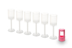 Push Pop Heart Containers with Plunger Cutter: 7-Piece Set
