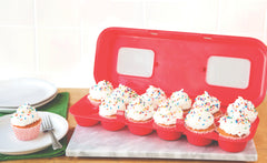 Red Cupcake Carton