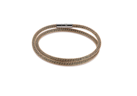 Stainless Steel mesh double wrap bracelet gold 0111_35_1600