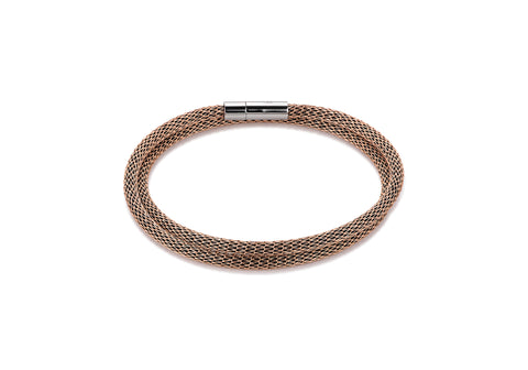 Stainless Steel mesh double wrap bracelet rose gold 0111_35_1620